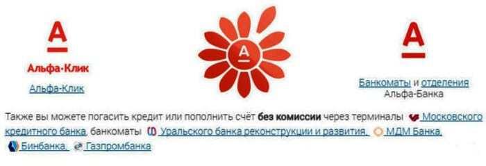 Оплата долга по кредиту в Альфа-банк через интернет